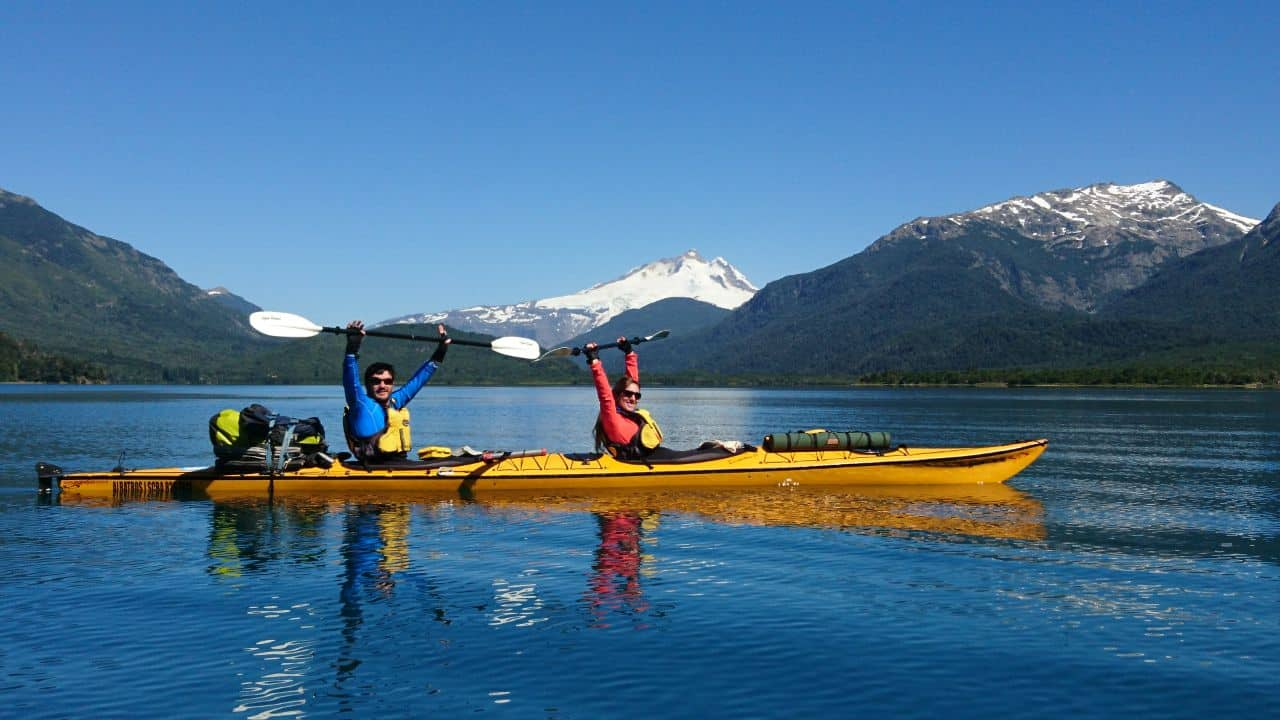 Recorriendo lagos de Bariloche en  modo kayak